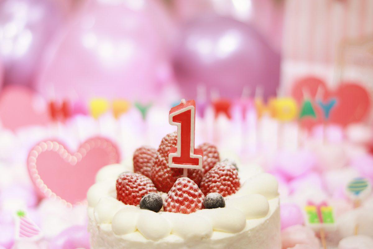 1歳の誕生ケーキ