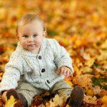 秋と赤ちゃん