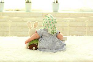 赤ちゃんの背中